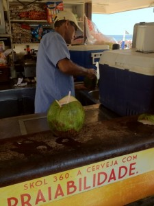 Coconut Water Vendor in Brazil